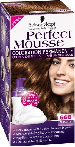 schwarzkopf perfect mousse coloration permanente noisette 668 - Coloration Cheveux Cappuccino