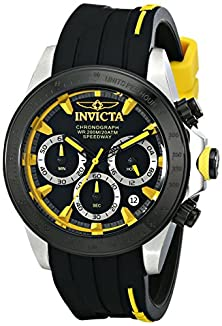 "buy Invicta Men'S 17191Syb ""Speedway"" Stainless Steel Watch With Black Silicone Band"