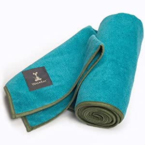 """YogaRat 100% Microfiber HOT YOGA TOWELS - Available separately in two sizes: Mat Length (25"""" x 72"""") and Hand Size (16"""" x 25"""") from YogaRat"""