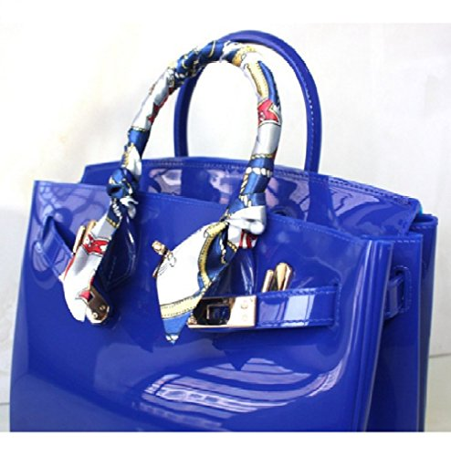 EXQUISITE-ME luxury cute jelly candy color beach waterproof summer tote/office bags (Hermes Jelly Bag compare prices)