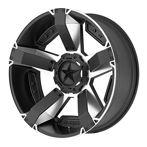 XD Series by KMC Wheels XD811 Rockstar II Satin Black Wheel With Machined Accents (20x9