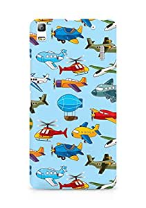 Amez designer printed 3d premium high quality back case cover for Lenovo K3 Note (Helicopter airship plane texture)
