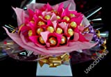 Sweet Bouquets ~ Personalised ~ Valentines Day Gift ~ 30 Chocolate Ferrero Rocher Bouquet ~ Delivered in Patterned Gift Box