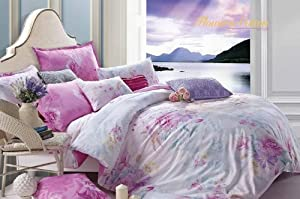 Cc&dd Pink World Duvet Cover 3 P C Set 100% Cotton Full-size