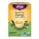 Yogi Tea, Energy Green Tea, 16 Count (Pack of 6), Packaging May Vary (Tamaño: Pack of 6)