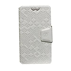 Jo Jo Cover Aarav Series Leather Pouch Flip Case With Silicon Holder For Motorola Atrix 2 White