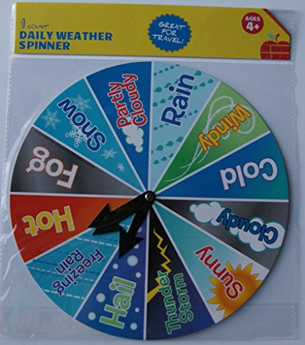 Weather Chart for Children - School Daily Marker Spinner Wheel - 1