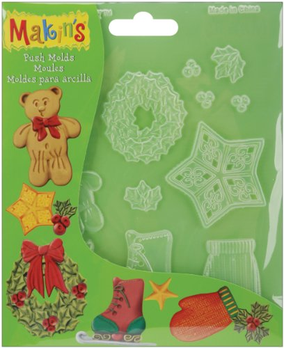 Makin's USA Push Clay Molds, Christmas Decor