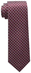 Tommy Hilfiger Men\'s Core Neat I Tie, Burgundy, One Size