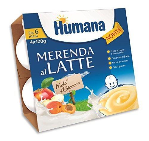 Humana merenda al latte mela e albicocca 4x400gr