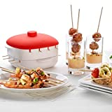 Insasta Microwave Skewers Kabab Maker No Mess