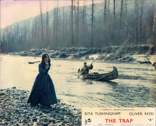THE TRAP ORIGINAL LOBBY CARD OLIVER REED RITA