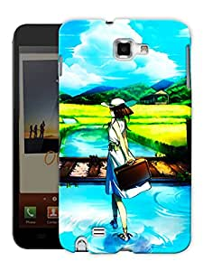 "Humor Gang Travel Girl Printed Designer Mobile Back Cover For ""Samsung Galaxy Note 1"" (3D, Matte, Premium Quality Snap On Case)"