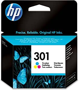 HP 301 - Print cartridge - 1 x colour (cyan, magenta, yellow) - 165 pages - blister