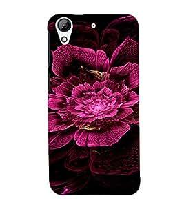 PrintVisa Pink Flower Design 3D Hard Polycarbonate Designer Back Case Cover for HTC Desire 728