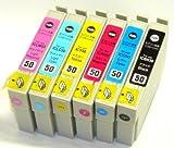 EPSON IC6CL50(エプソンプリンター用互換インク)】汎用インクカートリッジ 6色セット ランキングお取り寄せ