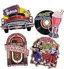 1/4 ~ 1950s Fun Collage Birthday ~ Edible Image Cake/Cupcake Topper!!!