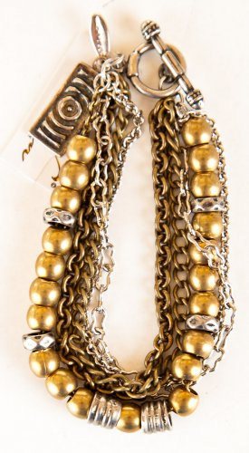 Ettika Bead and Chain Combination Bracelet (MB103)