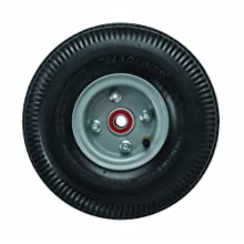 "Magline 121060 10"" Diameter Pneumatic Wheel with Red Sealed Semi-Precision Ball Bearings"