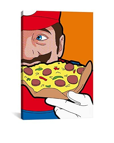 Mario-Pizza Gallery-Wrapped Canvas Print