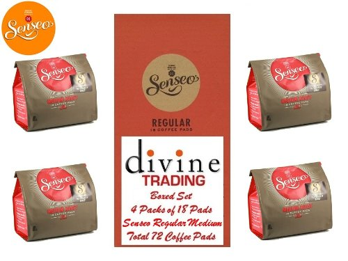 Order Douwe Egberts Senseo Medium Roast Coffee 18 Pads (Divine Trading Box Set of 4, Total 72 Pads) from Douwe Egberts Senseo