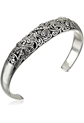 Sterling Silver Dragonfly Filigree Cuff Bracelet