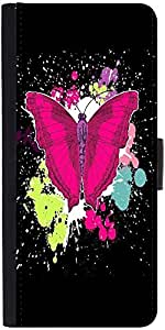 Snoogg Beautiful Butterfly On The Black Background Graphic Snap On Hard Back ...
