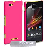 Yousave Accessories Coque pour Sony Xperia M Rose