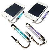 No1accessory new purple + blue crystal shaft stylus pen for ALCATEL POP C5 POP C1 HERO POP C7 SCRIBE HD IDOL ULTRA M'POP S'POP X'POP T'POP ONE TOUCH 992D IDOL STAR SCRIBE EASY
