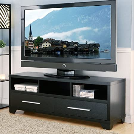 Garner Contemporary Style Black Finish TV Stand