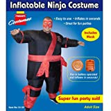 INFLATABLE NINJA WARRIOR MENS SUMO FANCY DRESS PARTY OUTFIT HALLOWEEN COSTUME