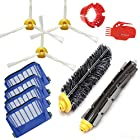 Smartide Accessory for Irobot Roomba 585 595 600 610 620 630 650 660 Vacuum Cleaner Kit - Includes 4 Pcs Filter, 3pcs Side Brush, and 1 Pc Bristle Brush and Flexible Beater Brush, Cleaning Tool