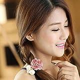 Hair-AccessoriesTOOPOOT-Women-Satin-Ribbon-Rose-Flower-Pearls-Ponytail-Hair-band