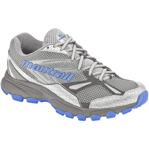 Montrail Women's Badrock Trail Runner,Cool Grey/Fresh Blue,7.5 M US