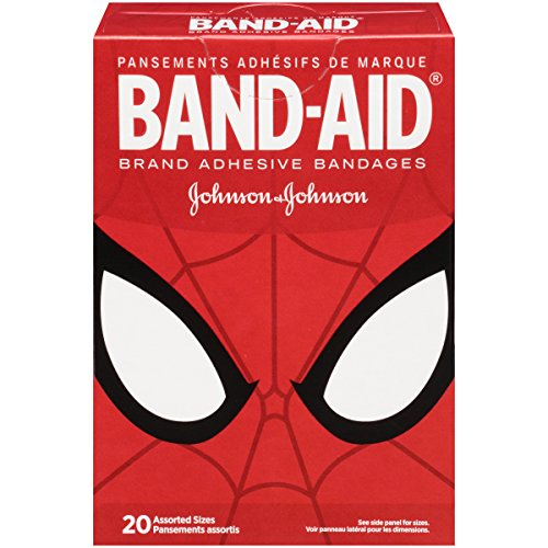 Band-Aid Marvel Spiderman Assorted Adhesive Bandages, 20 Count
