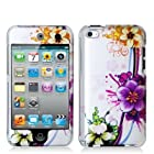 Purple Flower 2d Hard Snap-on Crystal Skin Case Cover Accessory for Ipod Touch 4th Generation 4g 4 8gb 32gb 64gb by Electromaster
