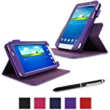 roocase Galaxy Tab 3 7.0 Case - Dual View PU Leather Case Cover Stand for Samsung Galaxy Tab 3 7.0 inch, Purple