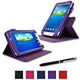 rooCASE Samsung Galaxy Tab 3 7.0 Case - Dual View Multi-Angle Stand Tablet Case - PURPLE