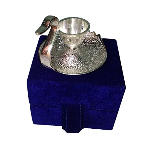 Handi Trendy Silver Plated Duck Style Brass Candle Holder