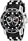 Invicta Men's 6977 Pro Diver Collection Stainless Steel and Black Polyurethane Watch