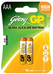 ULTRA ALKALINE AAA GODREJ GP BATTERY (SET OF 10 PIECES)