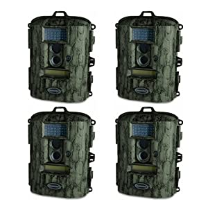(4) MOULTRIE D55-IR Game Spy 5 Megapixel Digital Infrared Game Camera (Camo) -... by Moultrie