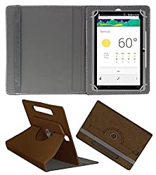 Acm Designer Rotating Case For Domo Slate X15 Stand Cover Brown