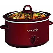Rival 4 Quart Crock-Pot Slow Cooker-RED 4QT OVAL SLOW COOKER