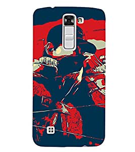 Man Abstract 3D Hard Polycarbonate Designer Back Case Cover for LG K7 4G Dual