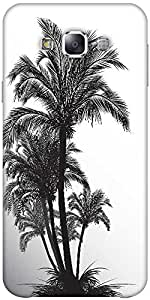 Snoogg tropical illustration Hard Back Case Cover Shield ForSamsung Galaxy E5