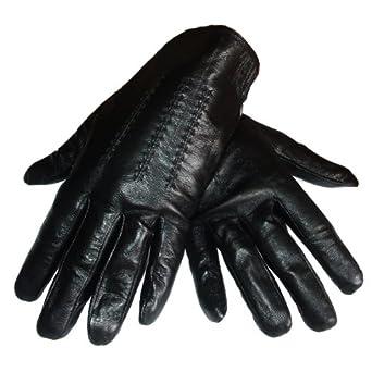 Gants homme de ville en cuir noir taille M (8,5/9)