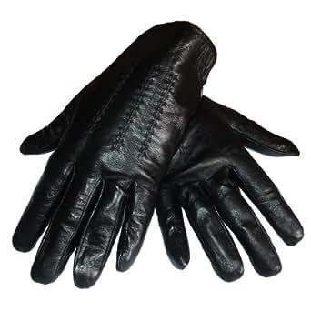Gants homme de ville en cuir noir taille L (9,5/10)