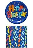 Happy Birthday Party Pack - 18 Plates & 20 Napkins St4