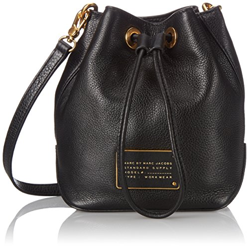 Marc JacobsNew Too Hot To Handle Drawstring - Borsa a tracolla donna , Nero (Nero),